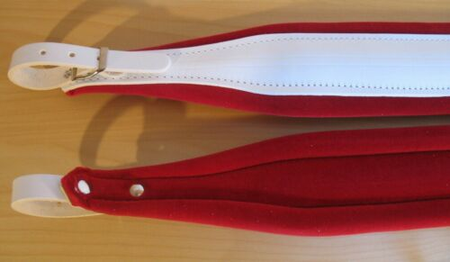Accordion Straps Stylish Red & White Deluxe Italcinte 306a Leather + BackStrap