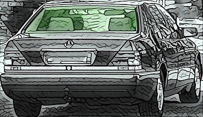 MERCEDES S-Klasse W140 Limo 1991-98 Heckscheibe rear window grün heizbar VB-Glas