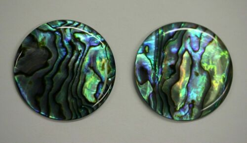 4pcs 10mm Natural Paua Shell Abalone Calibrated Round Cabochon Gemstones Jewelry