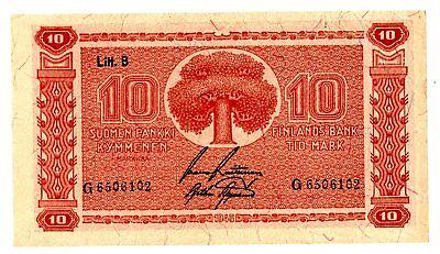 Finland ... P-85 ... 10 Markkaa ... 1945 ... (-):*XF++*