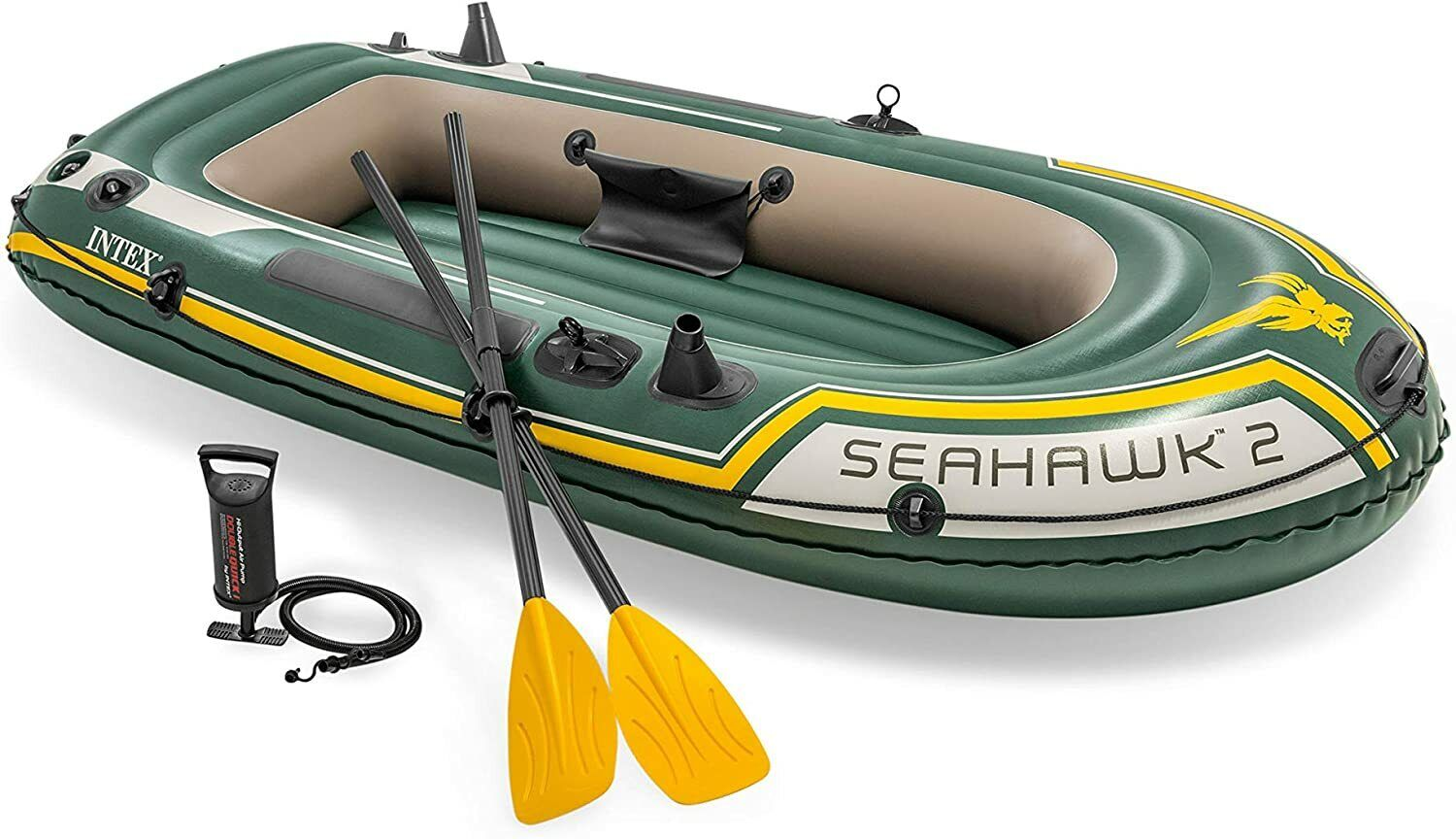 ✅ Intex Seahawk 2, 2-Person Inflatable Boat Set with Frenc