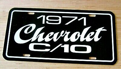 1971 Chevrolet C/10 pickup truck license plate tag 71 Chevy C10 half ton C-10