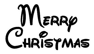 Merry Christmas Style #3 Font Vinyl Wall Art Decal Removable Mickey ()