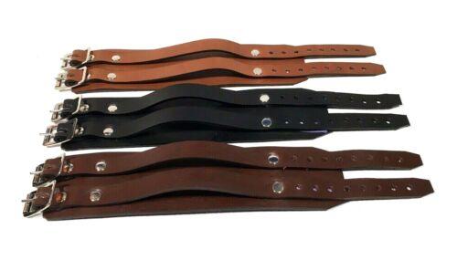 Genuine LEATHER 2 strap wristband wrist cuff Depp Elliott smith steam RATS BUM