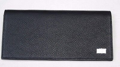 Authentic DUNHILL long wallet long tags Grain leather 10cc With zip d-8 CT