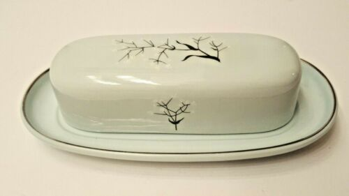 Vintage Universal Ballerina Mist Butter Dish with Lid Union Made in the USA