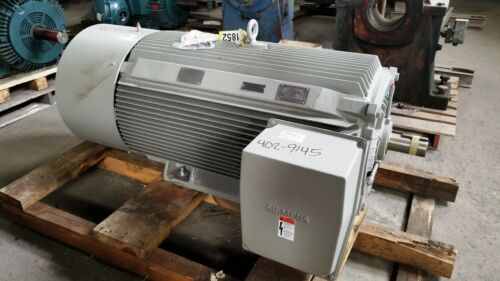 300 HP Siemens AC Electric Motor 1800 RPM Fr S449SS TEFCBB 460 V New