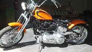 Harley shovel head bobber +a free road bike Kyneton Macedon Ranges Preview