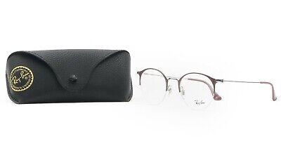 Ray-Ban Unisex Purple Half Rimless Glasses with case RB 3578V 2907 (Ray Ban Rimless Prescription Glasses)
