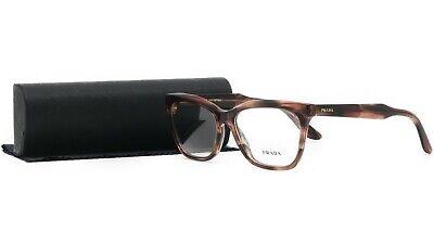 PRADA Women's Brown Glasses with case VPR 24S UEO-1O1 53mm