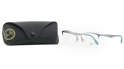 Ray-Ban Unisex Green Half Rimless Glasses with case RB 6345 2919 (Ray Ban Rimless Prescription Glasses)