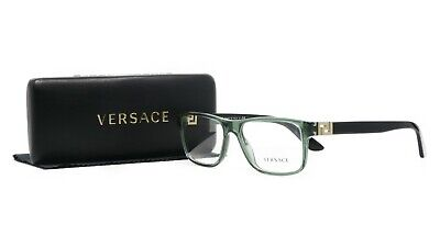 VERSACE Unisex Rectangular Green/Black Glasses with case MOD 3211 5144 53mm