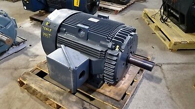 75 Hp General Electric Motor 900 Rpm 444t 445t Frame Tefc 460 V 1.15 S.f.