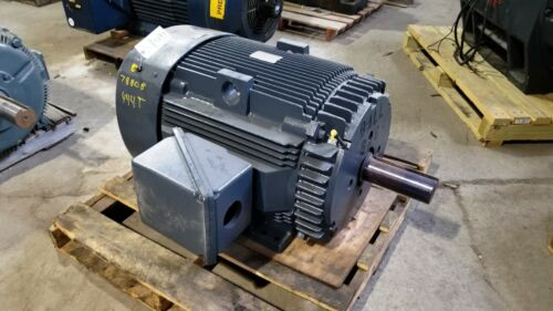 75 HP General Electric Motor, 900 RPM, 444T 445T Frame, TEFC, 460 V, 1.15 S.F.