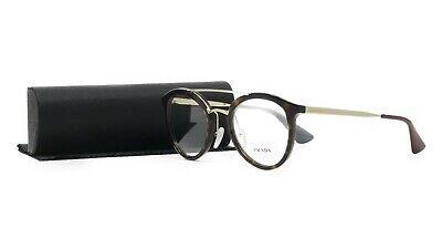 PRADA Women's Tortoise Gold Glasses with case VPR 15T 2AU-1O1 50mm
