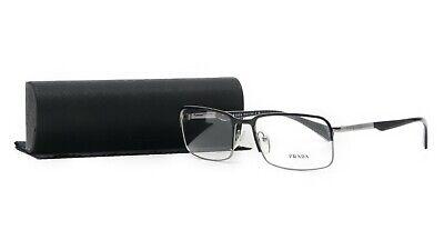 PRADA Women's Black Gunmetal Glasses with case VPR 61Q 7AX-1O1 56mm