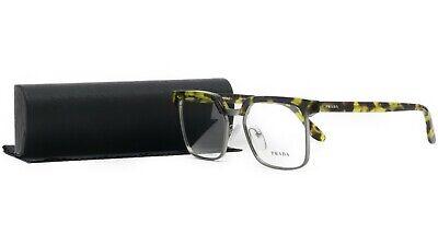 PRADA Women's Gunmetal Havana Glasses with case VPR 15S UBL-1O1 52mm