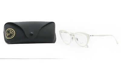 Eyeglasses With Lights (RAY-BAN Women's White Light Ray Glasses with case RB 7088 5618)