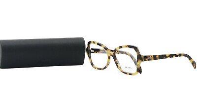 PRADA Women's Tortoise Butterfly Glasses with case VPR 25S 7S0-1O1 51mm