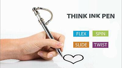 Fidget Toys THINK INK PEN Magnetic Metal Roller Ball Pen Stress Autism -