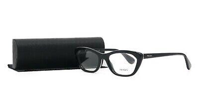 PRADA Women's Black Glasses with case VPR 03Q 1AB-1O1 52mm