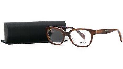 PRADA Women's Tortoise Glasses with case VPR 20P MAU-1O1 52mm