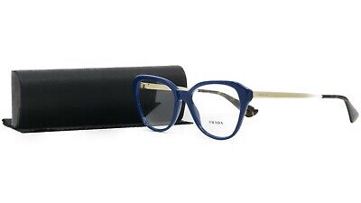 Prada Women's Blue Glasses with case VPR 28S BIL-1O1 54mm