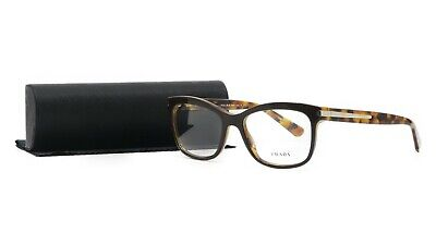 Prada Women's Brown Spotted lasses with case VPR 10R UBS-1O1 (Lasses With Glasses)
