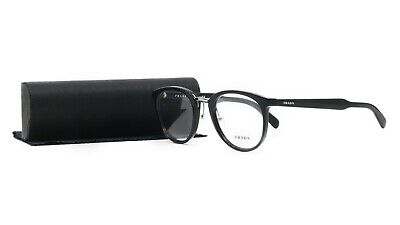 Prada Women's Black Glasses with case VPR 03T 1AB-1O1 50mm