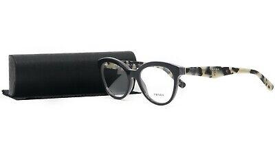 PRADA Women's Gray Beige Glasses with case VPR 11R TFN-1O1 52mm