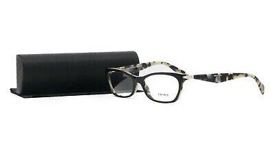 PRADA Women's Black Grey Glasses with case VPR 15P ROK-1O1 53mm