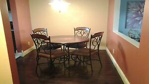 Beautiful Ashley Brand Dining Table and Chairs