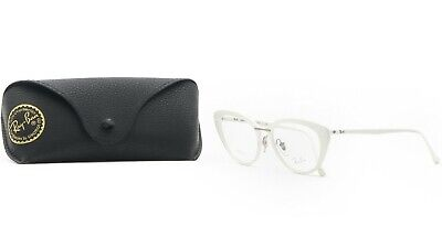 RAY-BAN Women's White Light Ray Glasses with case RB 7088 5618 54mm](Eyeglasses With Lights)