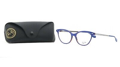 Ray-Ban Women's Cat-Eye Blue/Silver Glasses with case RB 5360 5716 54mm