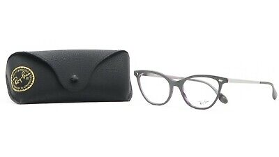 Ray-Ban Women's Cat-Eye Grey/Purple Tortoise Glasses with case RB 5360 5718 (Cat Eye Ray Ban Eyeglasses)