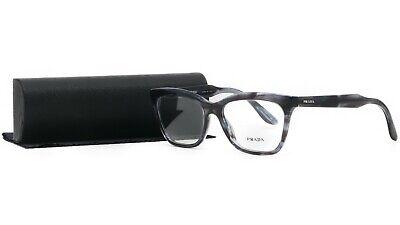 PRADA Women's Blue Grey Glasses with case VPR 24S UEQ-1O1 53mm