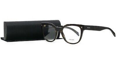 PRADA Women's Brown Havana Glasses with case VPR 21S 2AU-1O1 53mm