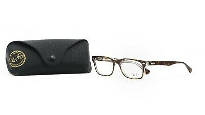 RAY-BAN Unisex Brown Crystal Glasses with case RB 5286 5082 51mm