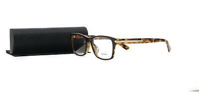 PRADA Women's Tortoise Glasses with case VPR 16S-F UBS-1O1 54mm