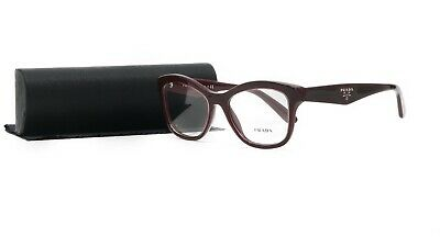 PRADA Women's Red Burgundy Glasses with case VPR 29R UAN-1O1 (Red Pradas)