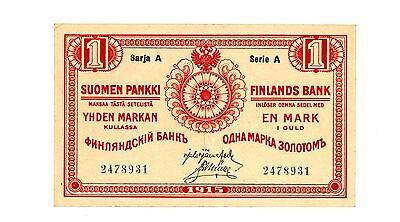 Finland … P-16b … 1 Markkaa … 1915 … *XF++*