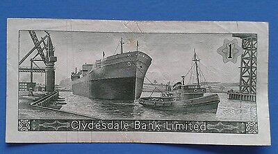 Clydesdale Bank Limited, One Pound, C/Q 212309 1-9-1969