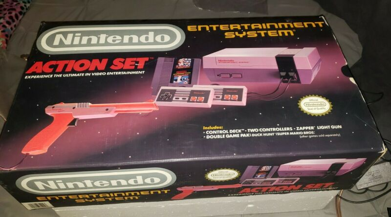 Nintendo Entertainment System Action Set Bundle,  With 3 Games