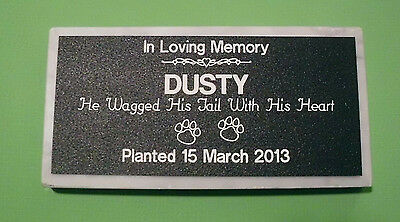 PERSONALIZED PET MEMORIAL STONE GRAVE MARKER TREE DEDICATION GARDEN DECORATION on Rummage