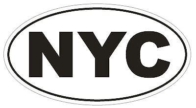 City Sticker Bumper (NYC New York City Oval Bumper Sticker or Helmet Sticker D148 Euro Oval )
