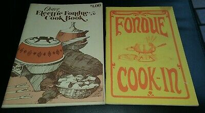 2 Vintage Oster Fondue Pot Cookbooks Instruction Manuals Guides Fondue Dipping Sauces