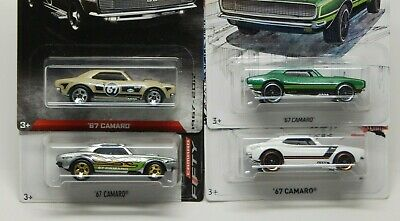 Hot Wheels '67 Camaro Fifty, ZAMAC, Detroit Muscle & White 50th anniv  Lot of 4