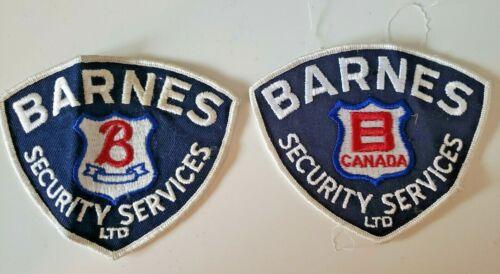 VINTAGE BARNES SECURITY SERVICE GUARD SHOULDER BADGES PATCHES CRESTS (2) KM