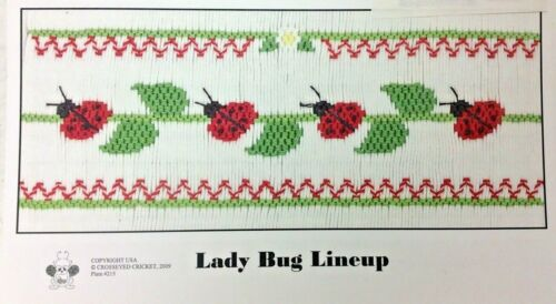 CROSSEYED CRICKET SMOCKING PLATE #215 LADY BUG LINEUP