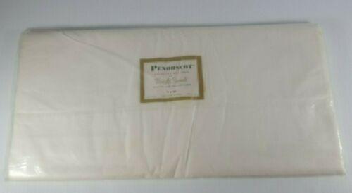 Penobscot Seconds Wamsutta Supercale Twin Bottom Sheet White 100% Cotton New